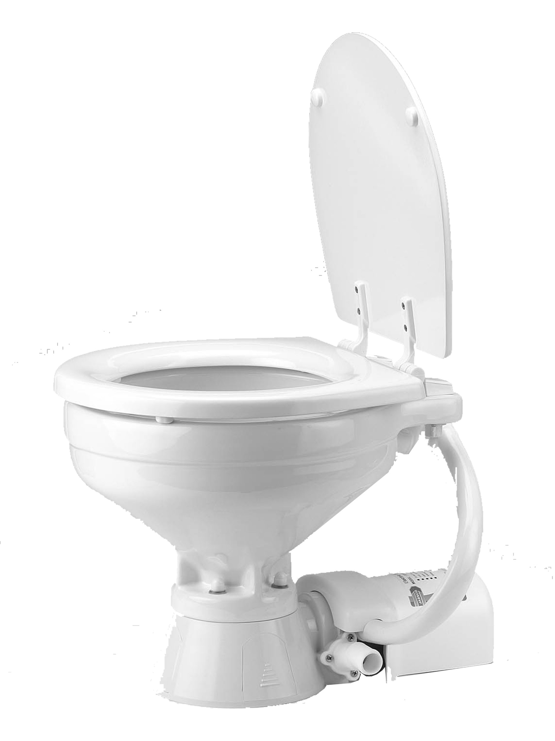 Jabsco 37010-1090 Electric Marine Toilet, Push Button Operation, Macerator, Household Size, 12 Volt