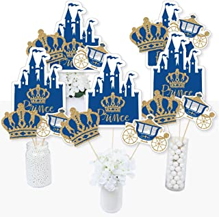 product image for Royal Prince Charming - Baby Shower or Birthday Party Centerpiece Sticks - Table Toppers - Set of 15