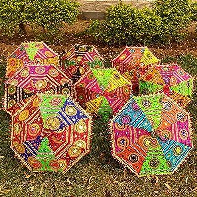 CRAFTOFPINKCITY - Sombrilla de Tela de algodón Indio, 10 Piezas ...
