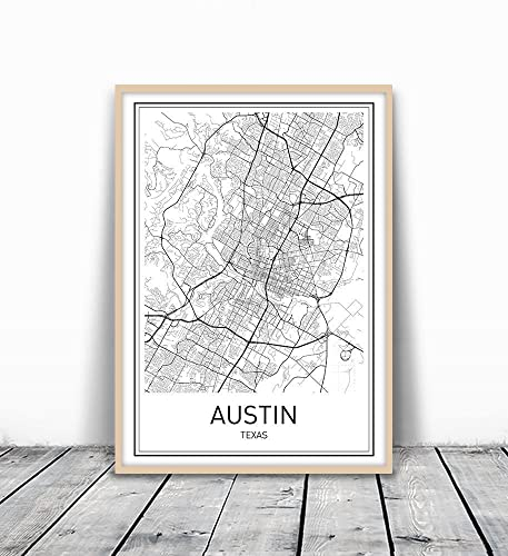 Amazon.com: Austin Map, Austin Map Poster, City Map Poster, Map ...