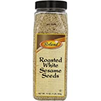 Roland Sesame Seeds, Roasted White, 16 Ounce