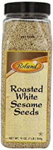 Roland Foods Roasted White Sesame Seeds, Specialty Imported Food, 16-Ounce Bottle