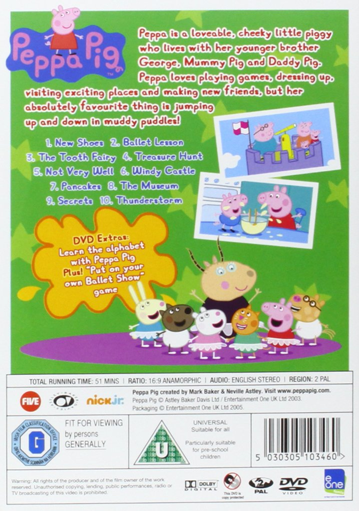 Peppa Pig: New Shoes and Other Stories Volume 3 DVD: Amazon.co.uk: Phil  Davies: DVD & Blu-ray