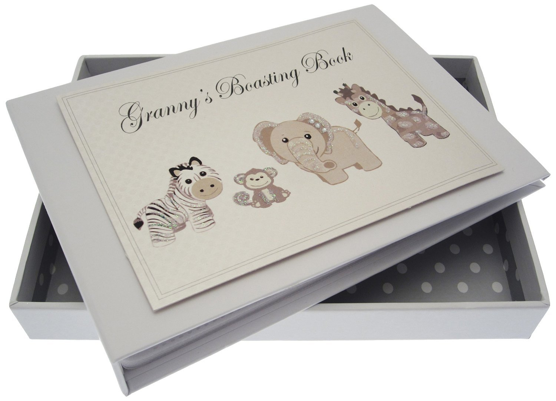 White Cotton Cards Granny's Boasting Book Silver Toys Tiny Album TS1