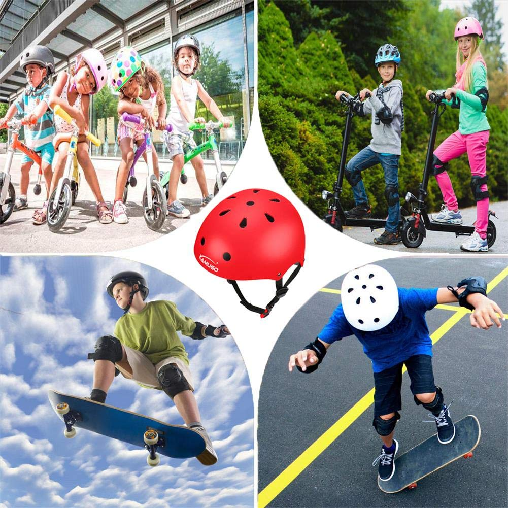 Adjustable from Toddler to Youth Size KAMUGO Kids Bike Helmet Ages 3-8 Boys//Girls Multi-Sport Safety Cycling Skating Scooter Helmet