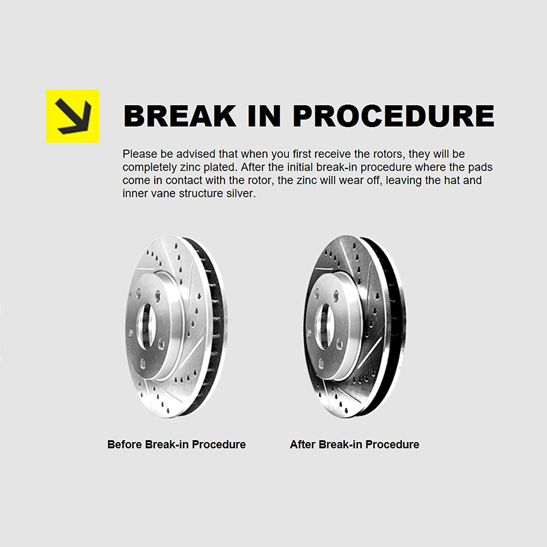 Ceramic Brake pads PHCF.67115.02 Hart Brakes Front Drill Slot Rotors Kit