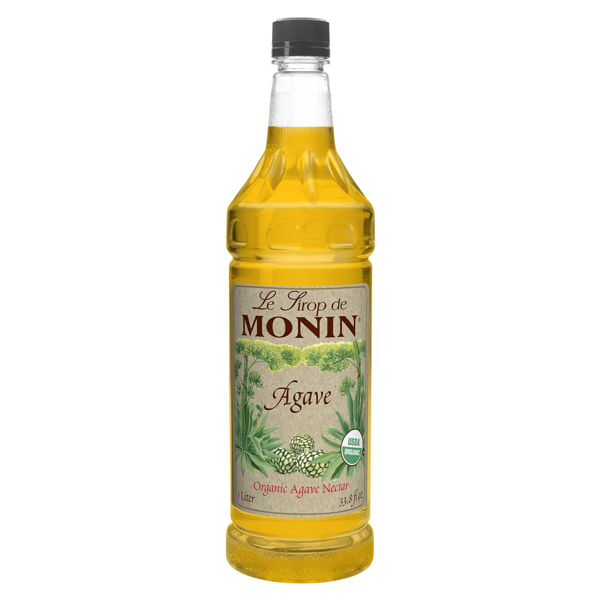 Monin Agave Nectar Sweetener 1 ltr Bottle (pack of 4)