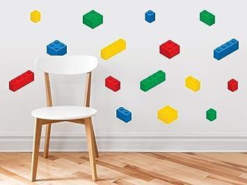 Amazon.com: Bloques de construcción ladrillos tela pared ...