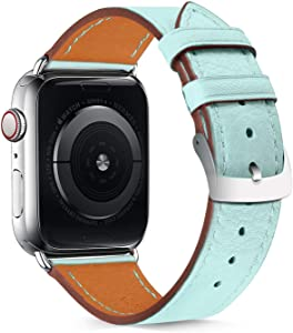 Compatible with Apple Watch Bands 42mm 44mm Women Men, Pierre Case Apple Watch Band 42mm/44mmLeather Sweatproof Classic Replacement Strap Stainless Steel Buckle for iWatch Series 6/5/4/3/2/1