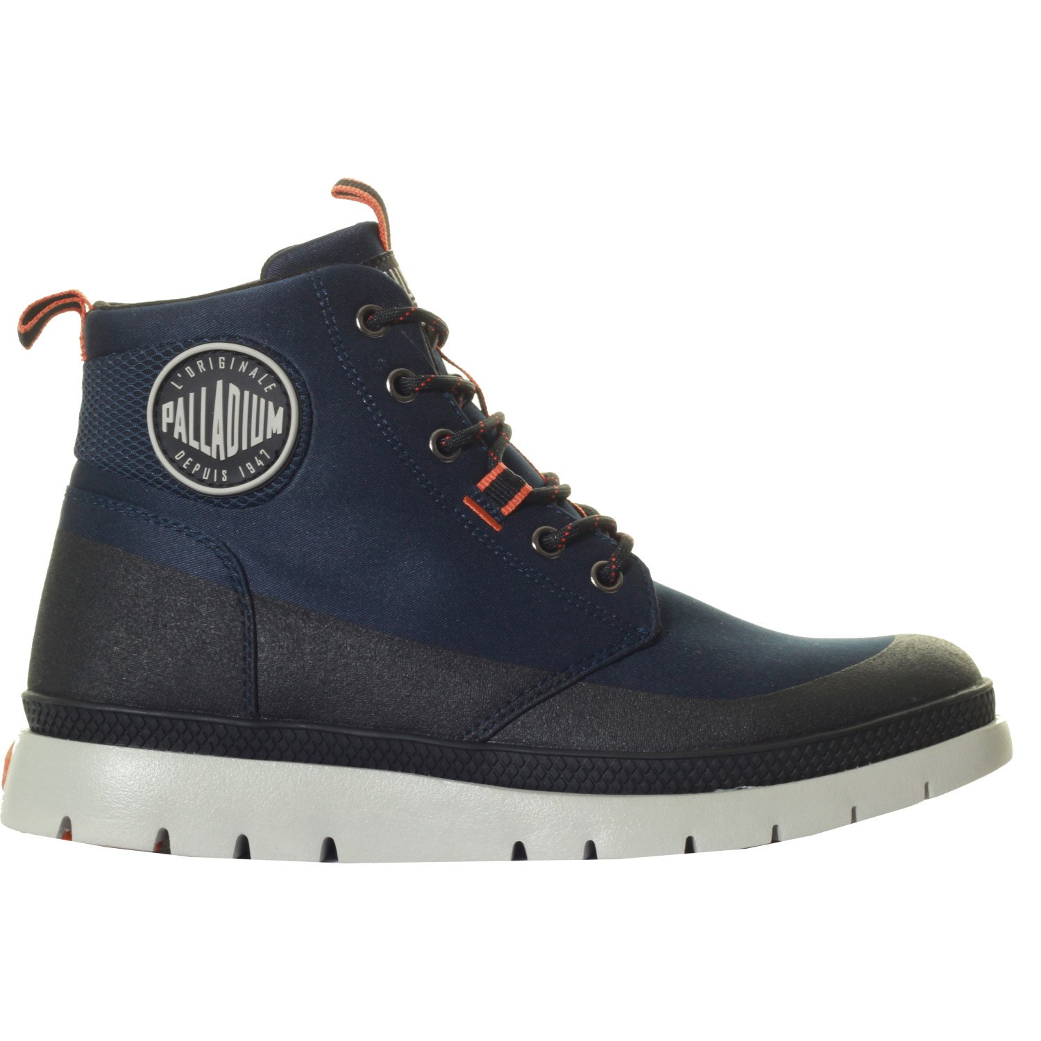 Palladium Pallasider Coated Mid Boots UK 10 Indigo Black