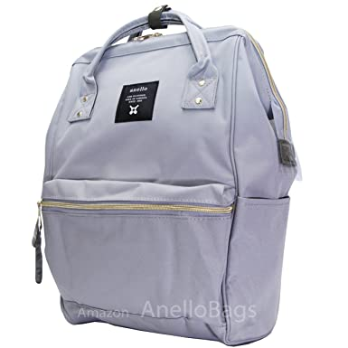 d9e0220fab10 Japan Anello Backpack Unisex LARGE LIGHT GRAY Rucksack Waterproof Canvas  Campus Bag