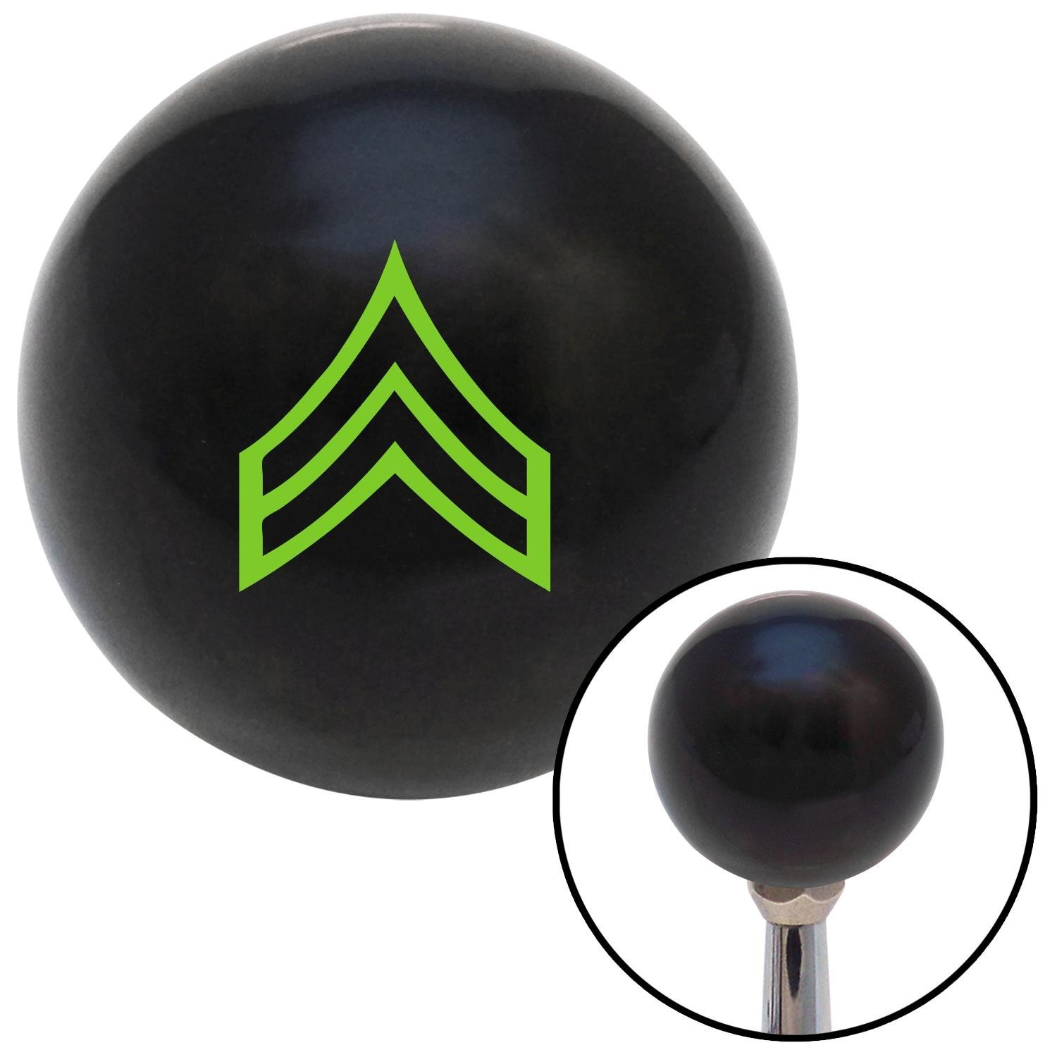 Green Corporal American Shifter 106556 Black Shift Knob with M16 x 1.5 Insert