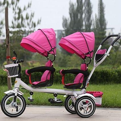 39fceaab3 TUJHGF Sillita De Paseo Triciclos para Niños Gemelos Bicicletas Dobles para  Niños Cochecitos para Bebés Bicicletas
