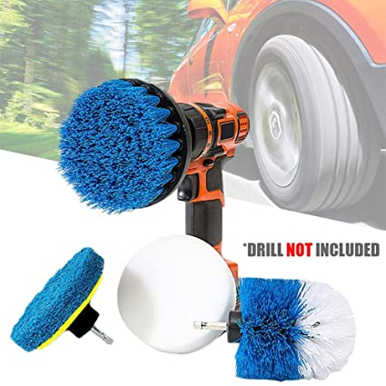 Amazon.com: anne210 Car Drill Brush Car Wash Set Spinning ...