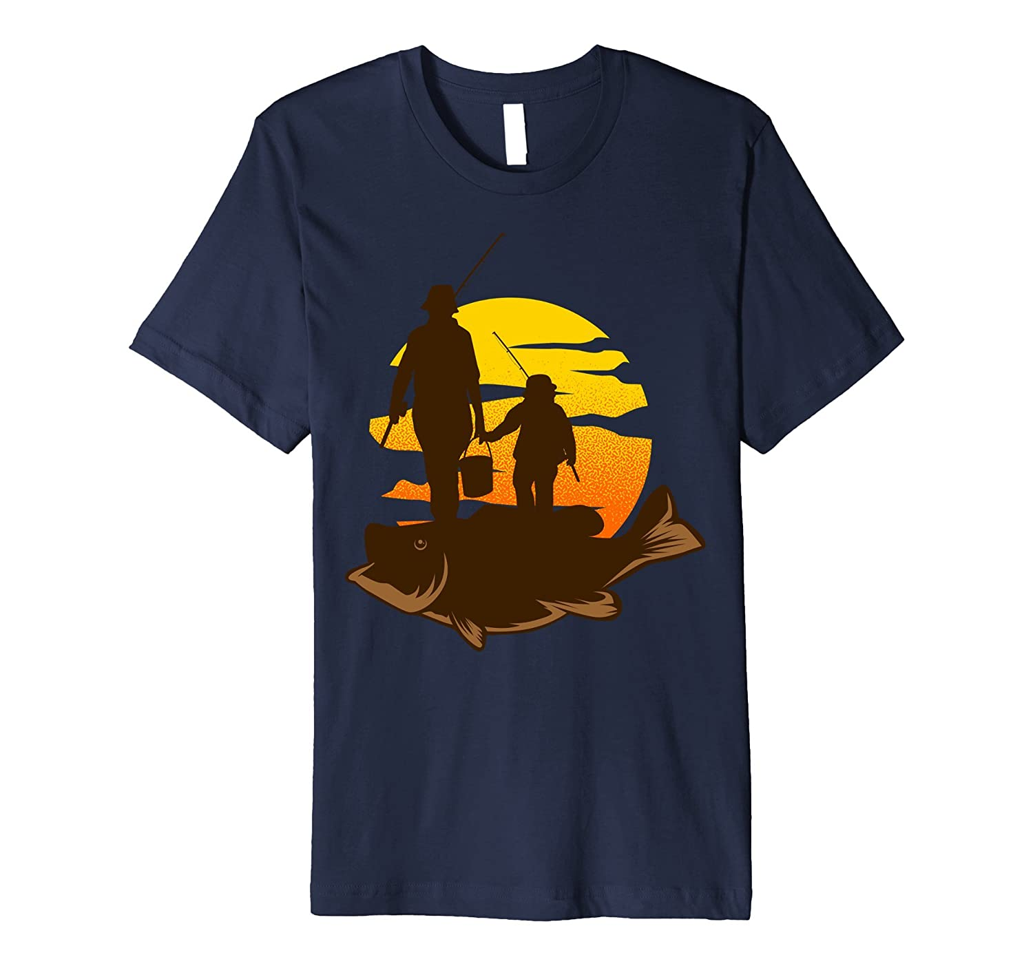 Father and Son Gone Fishing T-shirt cool Tee for fisherman-TJ