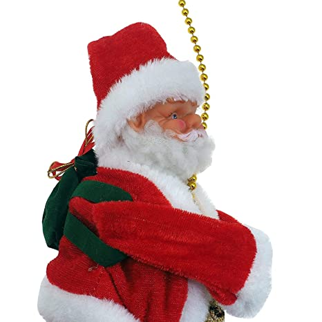 9a32ad135fa53 Buy Musical Santa Claus Climbing and Singing Santa Figure Christmas  Figurine Battery Operated Online at Low Prices in India - Amazon.in