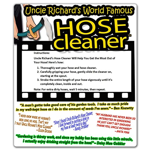 Amazon.com: Uncle Richard's Hose Cleaner – Cleans Dirty Hoses ...