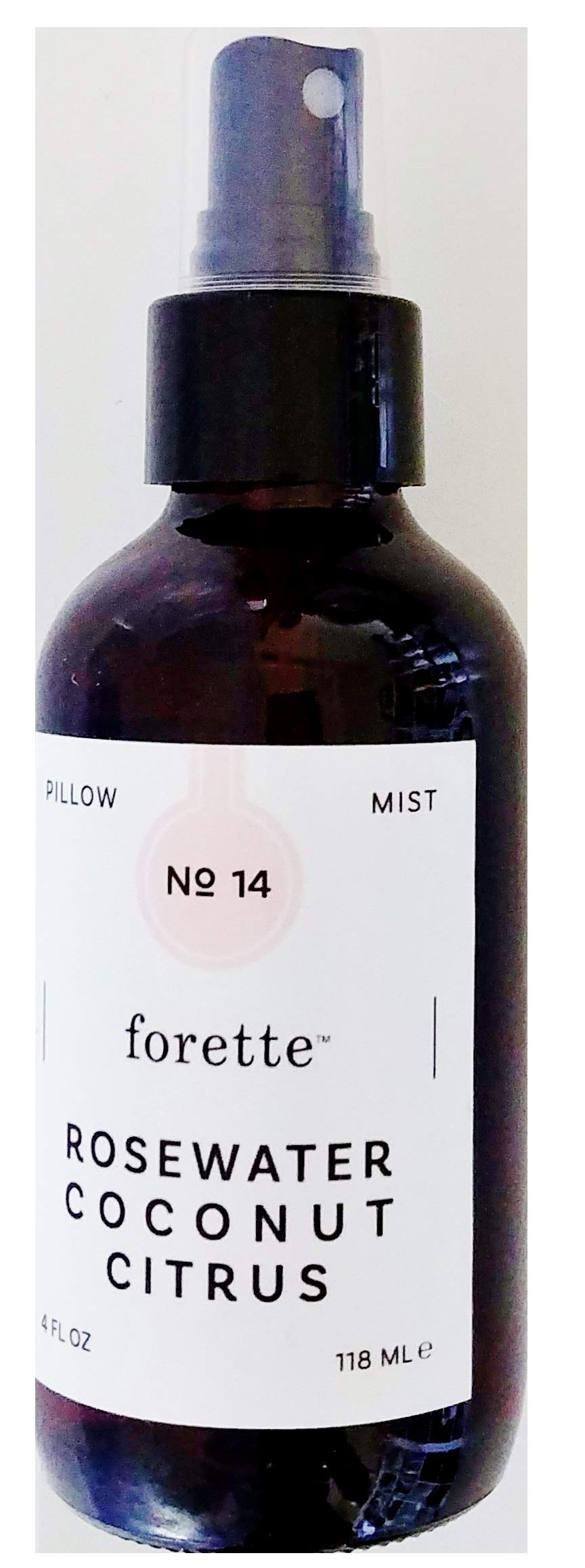 Forette No 12 Rosewater Coconut Citrus Pillow Mist Spray - Calming Aromatic Blends Helps To Sooth the Senses, Relax Your Mind, Balance Your Mood