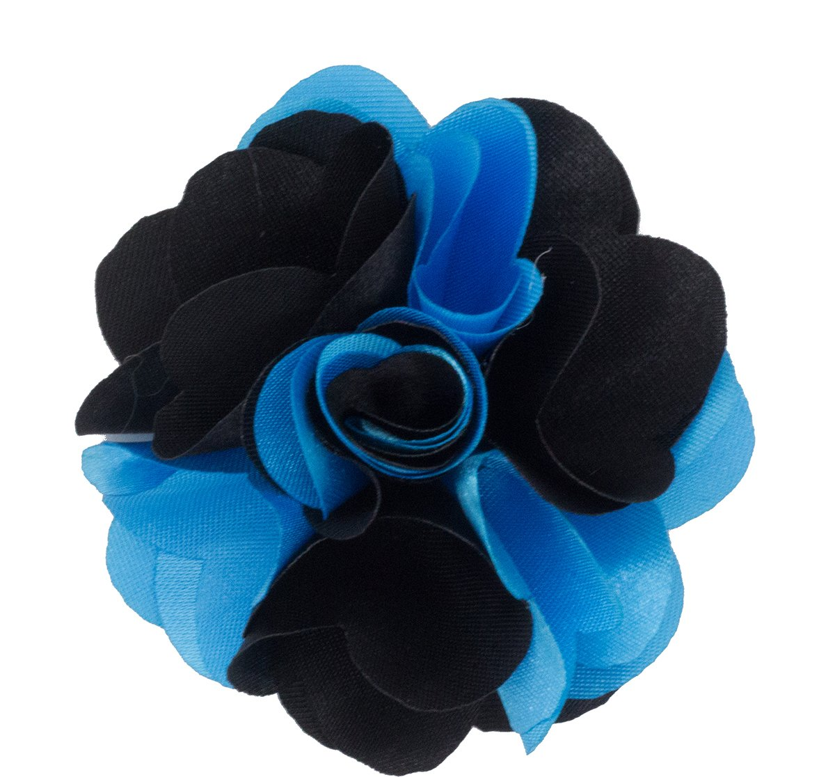 Mens Lapel Flower . Turquoise and Black