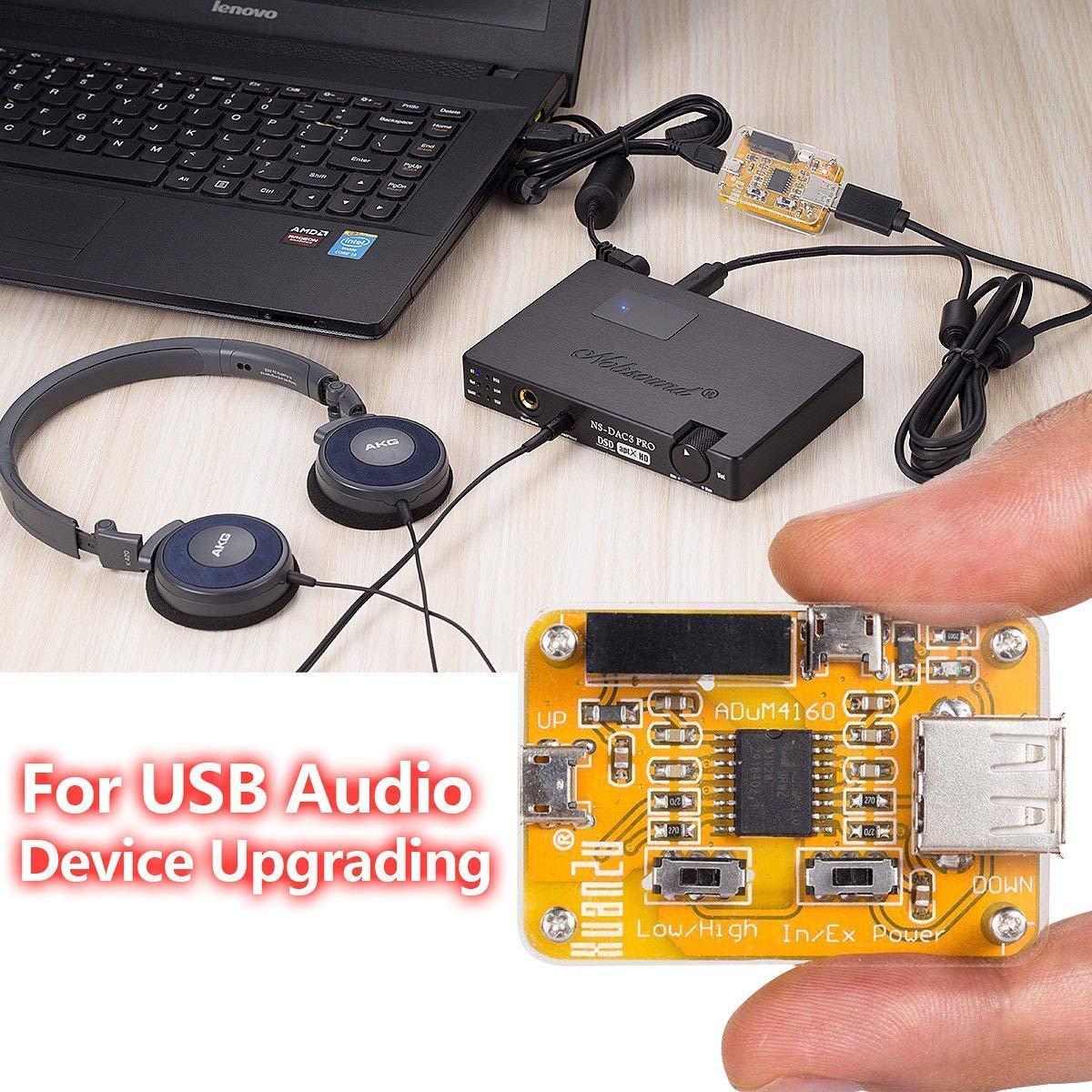 Nobsound USB to USB Isolator Module Audio Noise Eliminator Industrial Isolator Protection USB Interrumpido Filtro de interferencia para datos y ...