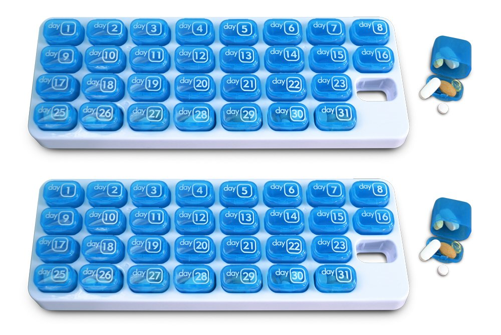 31 Day Monthly Pill Organizer Pods - 2 Pack