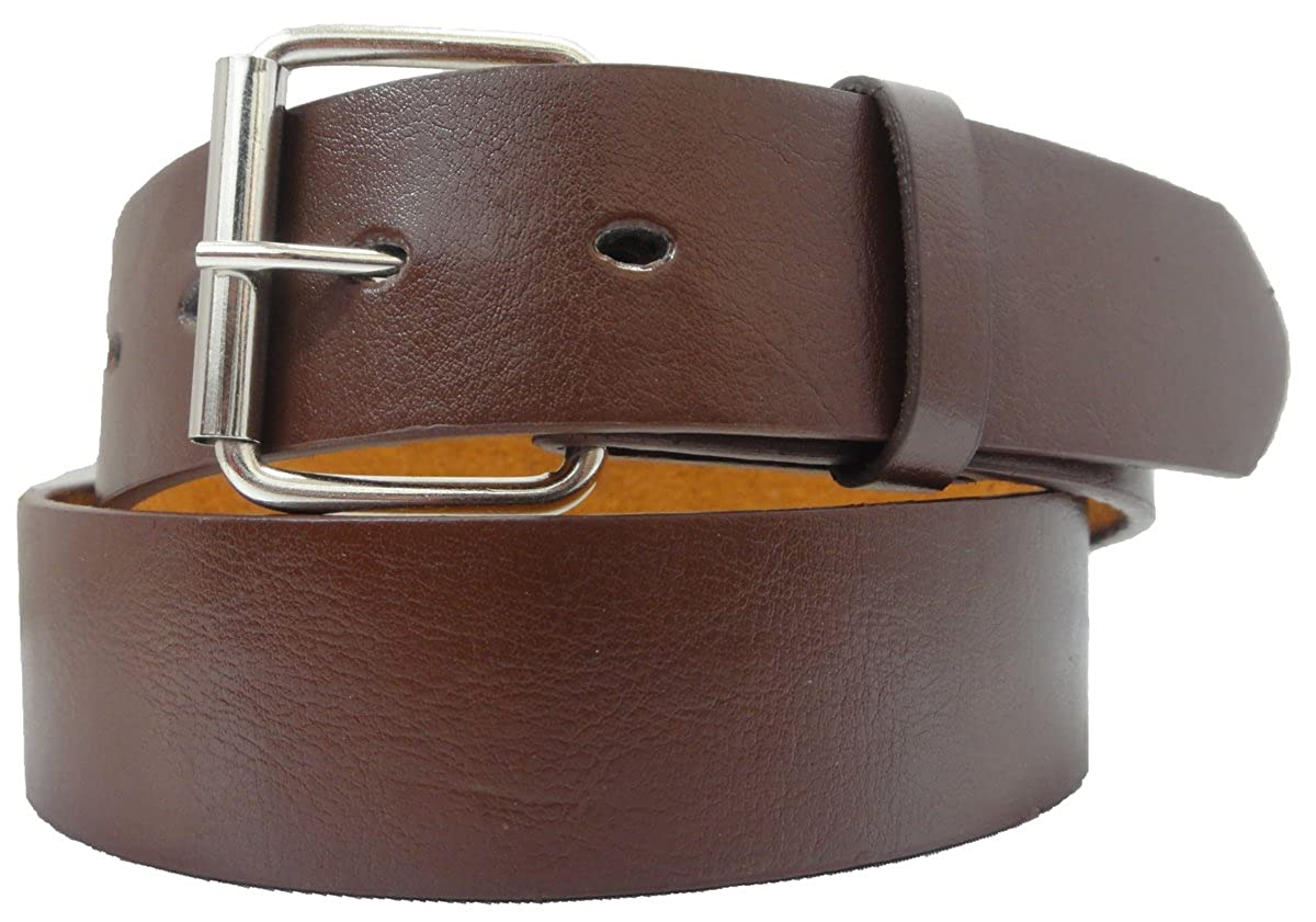 Solid Leather Belt with Removable Buckle and Snap