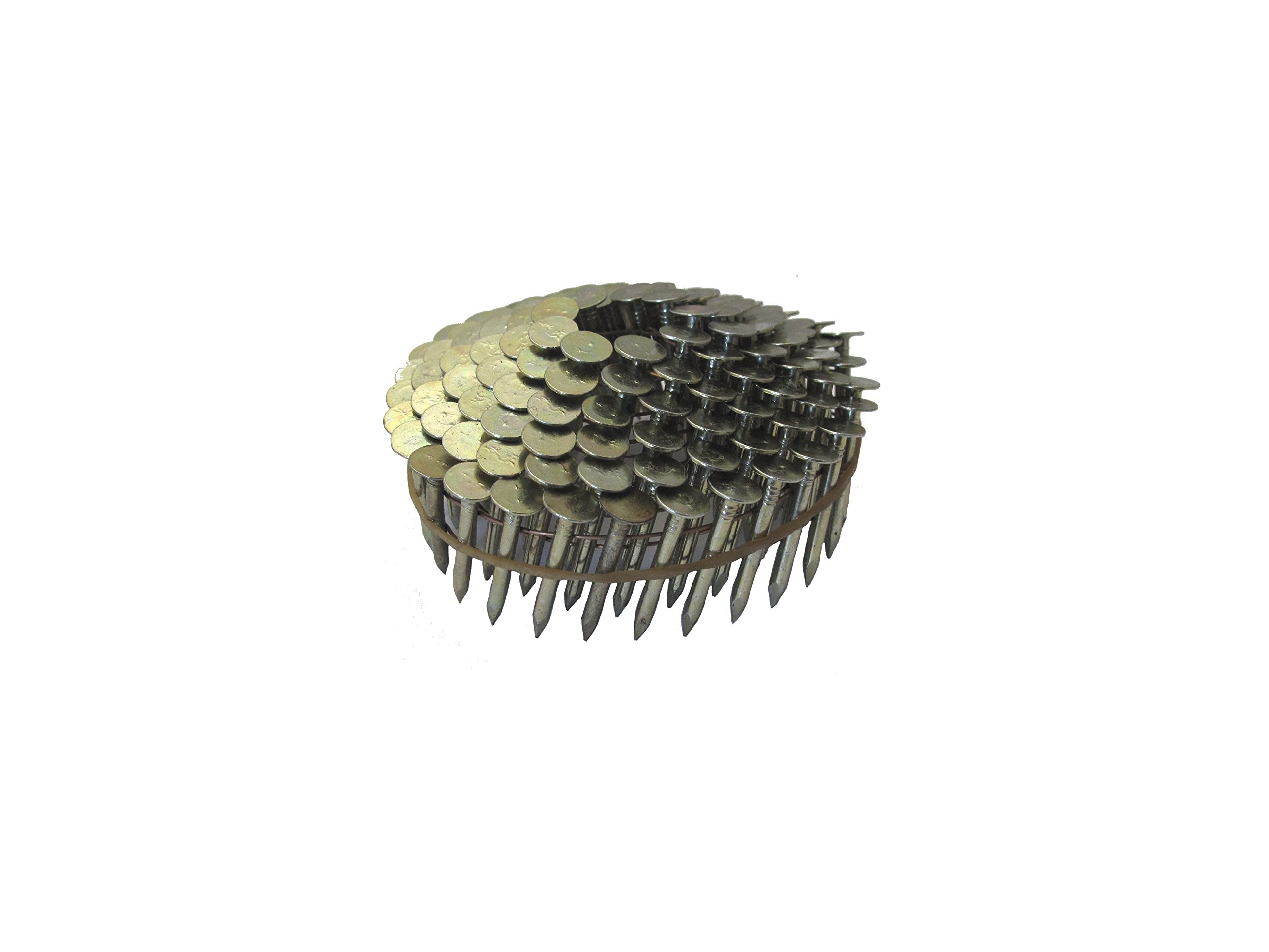 Grip-Rite 1-1/4-Inch 15? Electro-GALVANIZED Coil Roofing Nails, Smooth Shank, 600 nails per tub