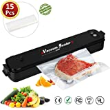 Vacuum Sealer Machine,Household Mini Vacuum Sealing Machine 100~240V 90W Automatic One-Touch Food Vacuum Sealer Machine Food Vacuum Sealer Vacuum Packaging Tool,Including Vacuum Sealer 15 Bags