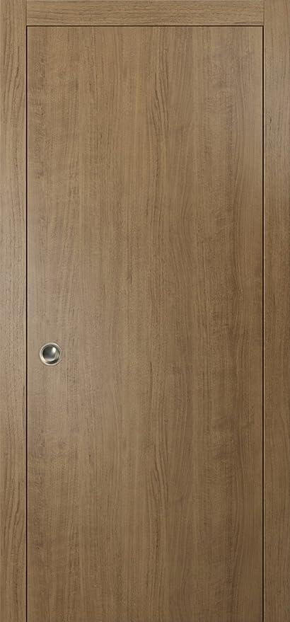 Beau Modern Sliding Pocket Door 28 X 80 Inches | Planum 0010 Smoky Walnut |  Pocket Frame