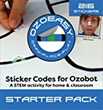 Ozoeasy Sticker Codes (Starter Pack) for use with Ozobot
