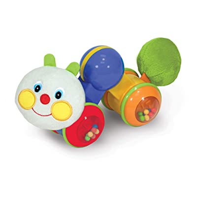 Melissa & Doug K's Kids Press and Go Inchworm Baby Toy - Rattles, Clicks, and Self Propels: Melissa & Doug: Toys & Games