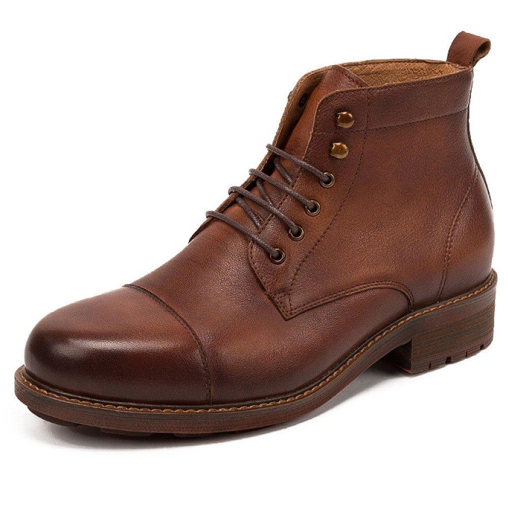 LYZGF Herrenmode Lederschuhe Formale Schuhe Im Freien Beef Tendon Lace Geschäft Wachs Verschleißfeste Büro Läuft