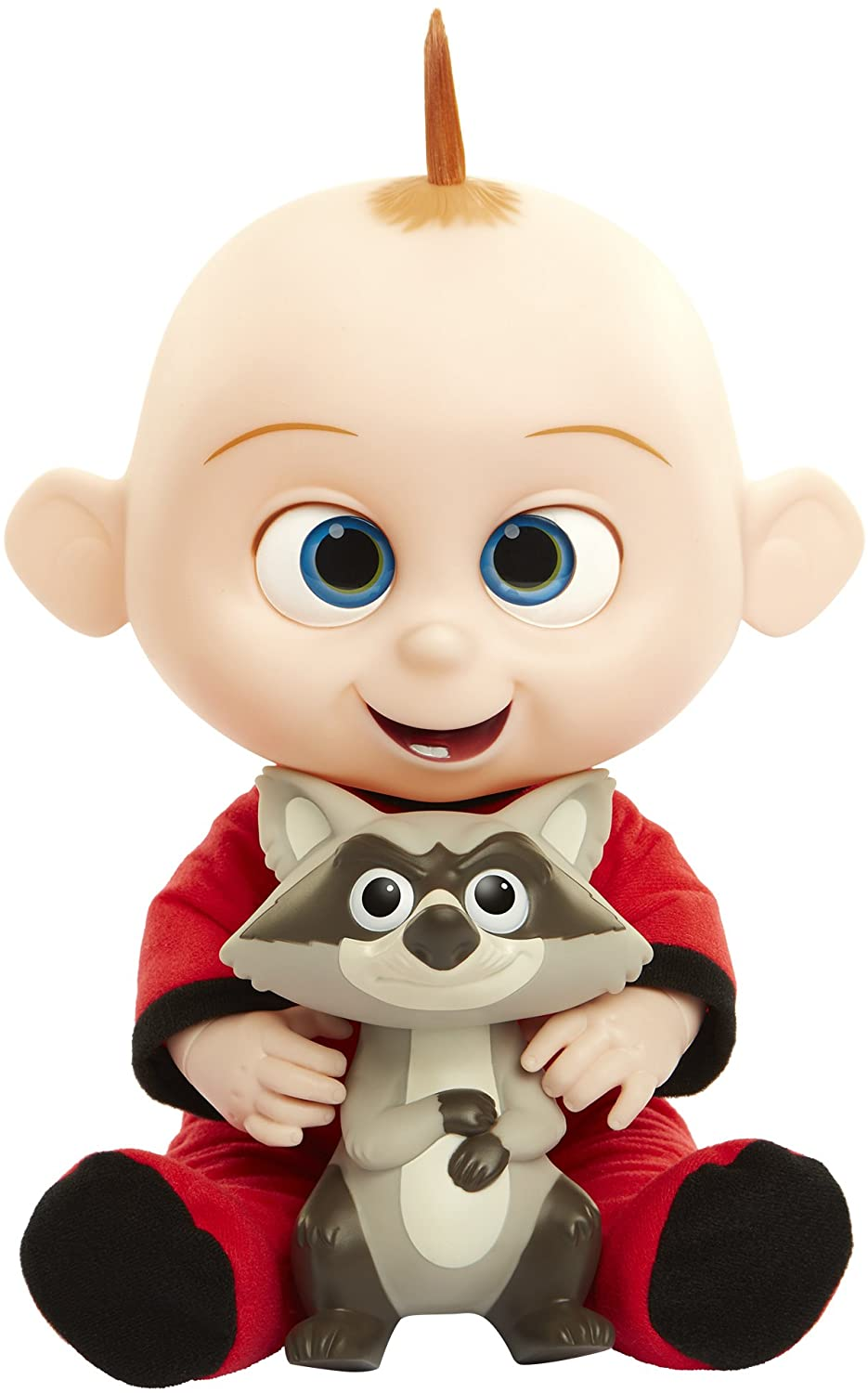 Amazon Com The Incredibles 2 Jack Jack Plush Figure Features Lights Sounds And Comes With Raccoon Toy Toys Games