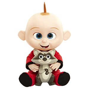 The Incredibles 2 Jack-Jack Plush-Figure Features Lights & Sounds and Comes with Raccoon Toy