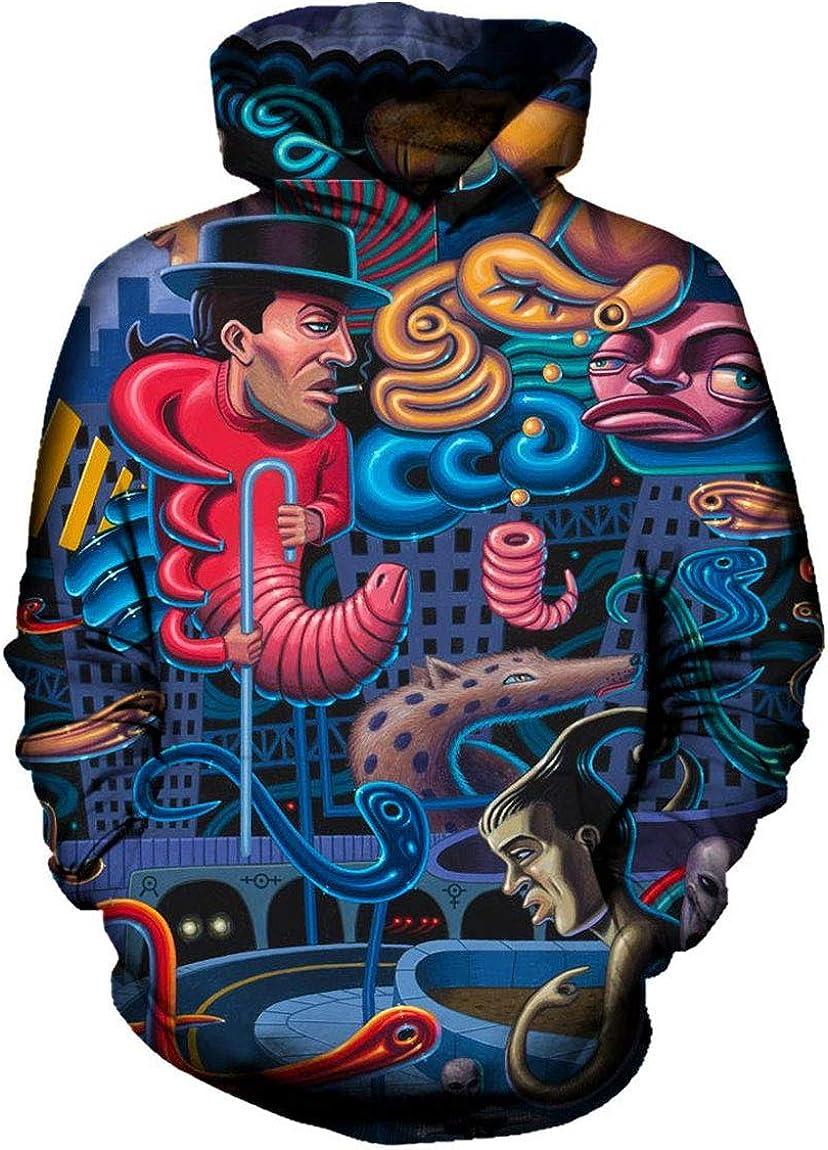 MaRlauy Shop Men Hoodie Pennywise 3D Joker Print Pullovers Sweatshirt