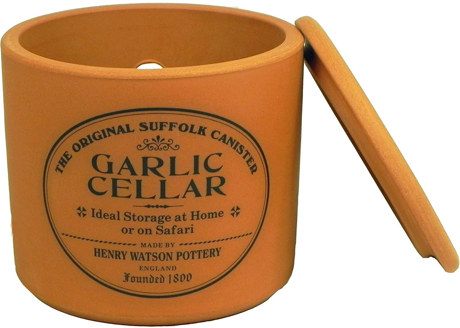 Henry Watson - Garlic Keeper - Terracotta - Made In England - 4.25 inches x 4 inches - The Original Suffolk Collection.