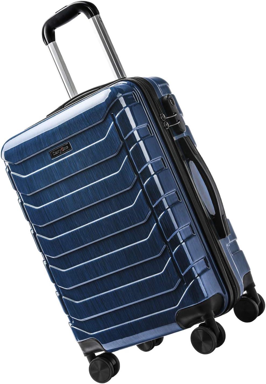 Combinaison de Serrure CarryOne Set de 3 Valises Sets de Bagages ABS 3 pi/èces avec Valise TD3-Gris(55cm,64cm,74cm) 4 roulettes pivotantes
