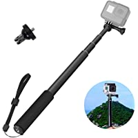 """VVHOOY Selfie Stick Adjustable Telescoping Monopod Pole 37"""" with Long Screw for Gopro Hero 6/5 Brave 4 4K Globmall Bopower B1W Campark ACT76/ACT74 Sports Action Camera"""