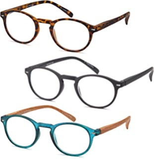 784a16534d26 GAMMA RAY 3 Pairs Round Vintage Keyhole Bridge Readers Reading Glasses
