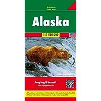 Alaska, Autokarte 1:1,5 Mio (freytag & berndt Auto + Freizeitkarten): Wegenkaart 1:1 750 000