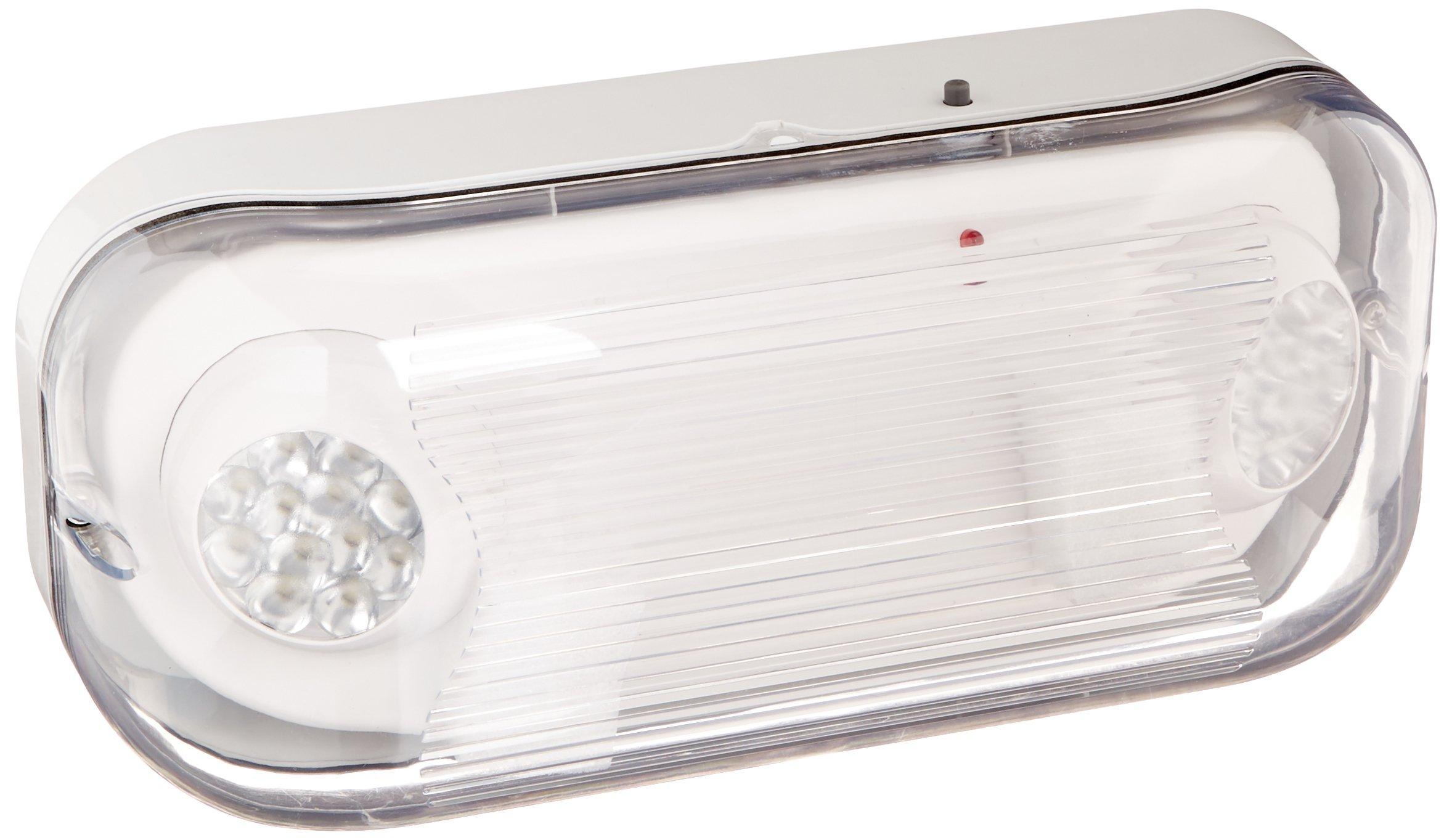 Ciata Lighting EMR-WP-LED Wet Location Outdoor Emergency Light with Battery Back-up, White
