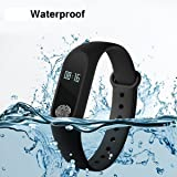 2dozay Smart Fitness Band Activity Tracker with Heart Rate Sensor Compatibile with/for Samsung Galaxy J7 Prime 2 and All Androids/iOS Devices (M2)