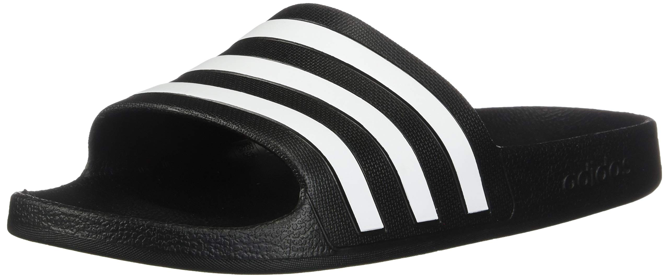 adidas Women's Adilette Aqua, White/Black, 7 M US by adidas