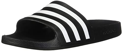 on sale caa08 049a7 adidas Womens Adilette Aqua Sport Sandals, Core BlackFootwear WhiteCore  Black,