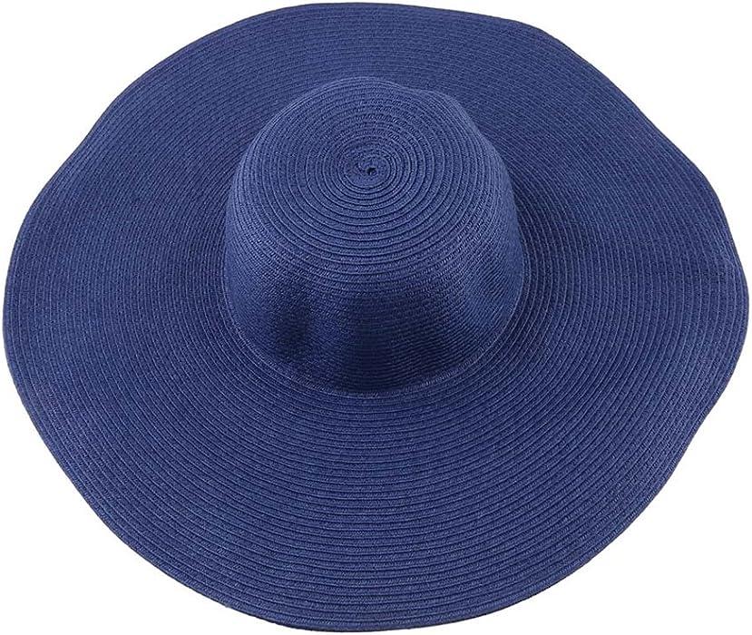 a87a41e808cb9 Fashion Women Girl Summer Sun Hat Adujstable Packable Roll Up Big Brim Beach  Floopy Hat