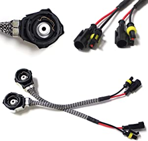 iJDMTOY (2) OEM-Spec D2 AMP Adapters To D2S D2R Bulbs Converters Compatible With Aftermarket Xenon Headlight Kit Ballast/Controller