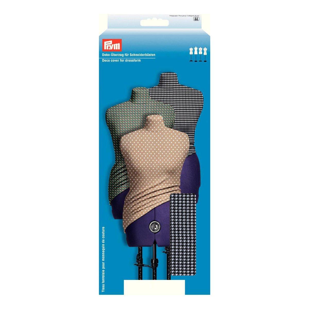 Prym 610235 | Black White Houndstooth Dressform Cover Large UK Size 22-28