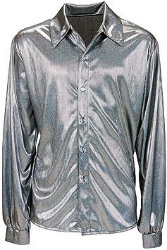 Horror-Shop Glitter Disco Camisa de Plata XL: Amazon.es: Juguetes y juegos