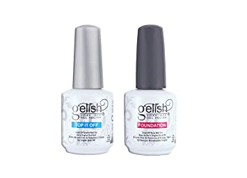 Gelish Top + Base Foundation Gel Soak off Gel Polish 15ml 0.5oz each: Amazon.es: Electrónica