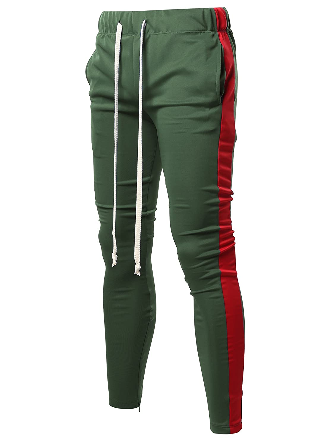 Style by William PANTS メンズ B07CXFWYQB Large|Fsmptl0005 Green Red Fsmptl0005 Green Red Large
